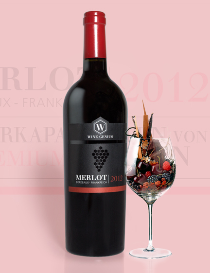 Merlot Wine Label Design & Online Branding
