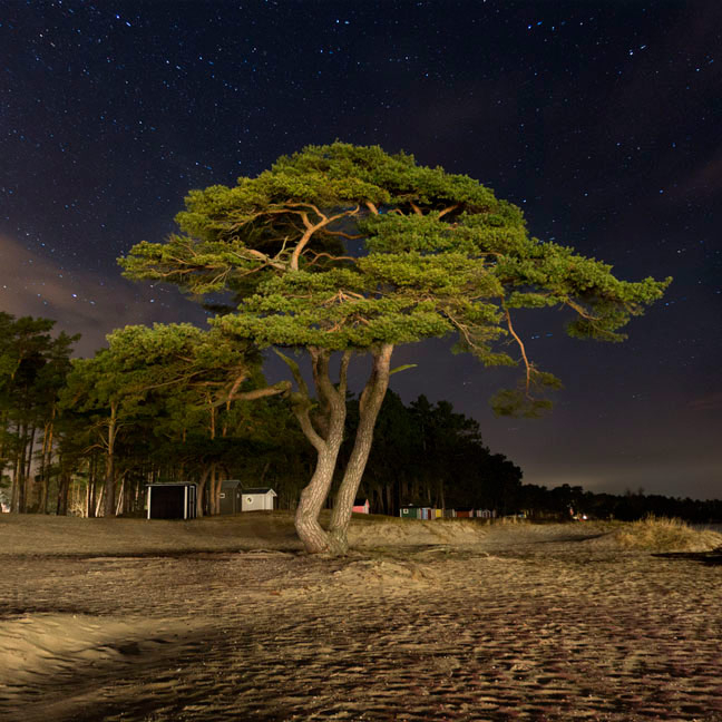 Åhus the Strand by night – Night photography