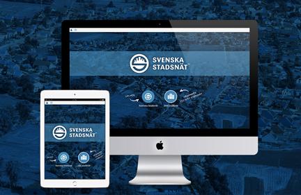 Svenska Stadsnät web design branding