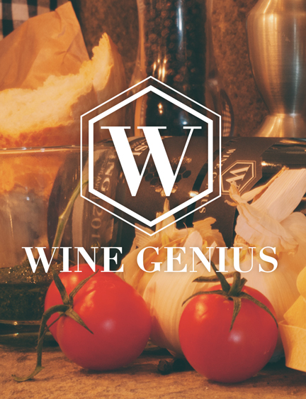 Wine Genius logo concept, logo design & logo package design