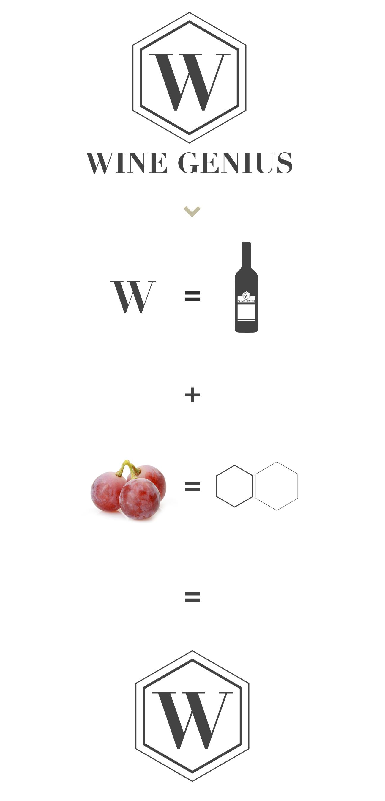 Wine Genius logo concept & logo package design