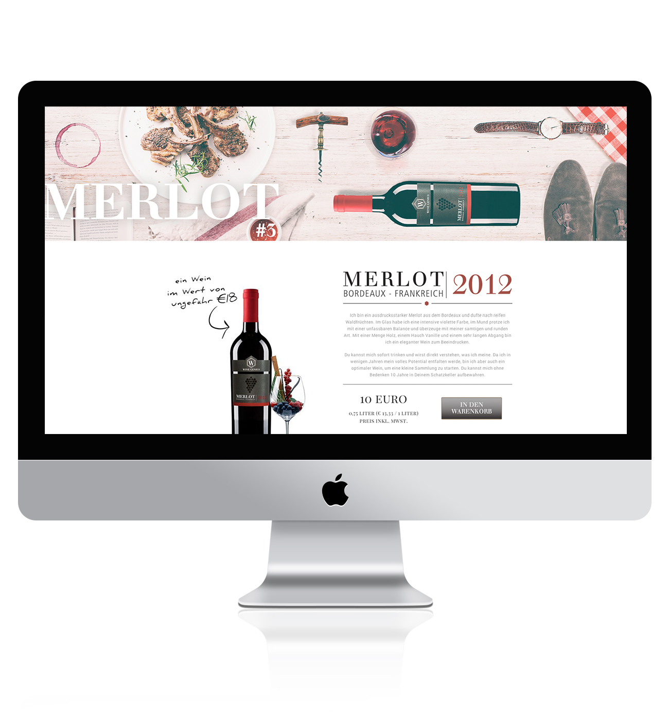 Online Branding design for Wine genius