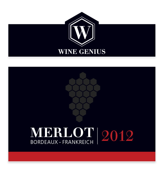 merlot front label design