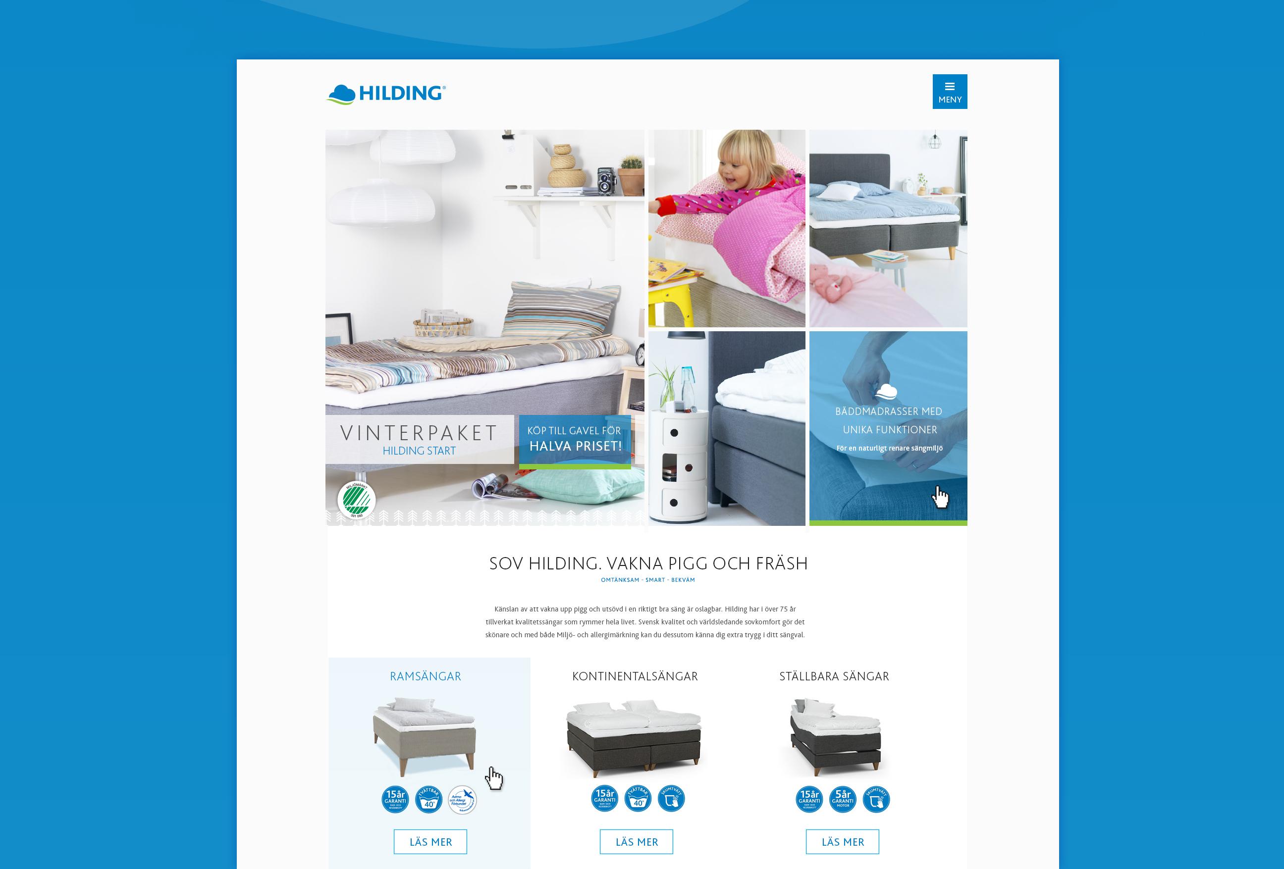 Hilding website design - jan 2015