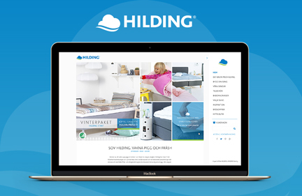 Hilding website design – jan 2015