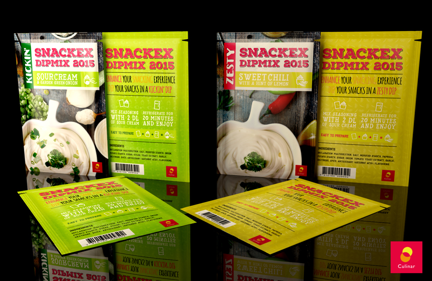 Culinar – Snackex 2015 Dip Mix package design