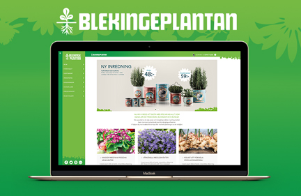 Blekingeplantan website design – Feb 2015