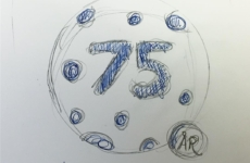 One of my logo sketch ideas for beds; 75 year anniversary   Designed sometime in 2014 @ Quid Design Agency