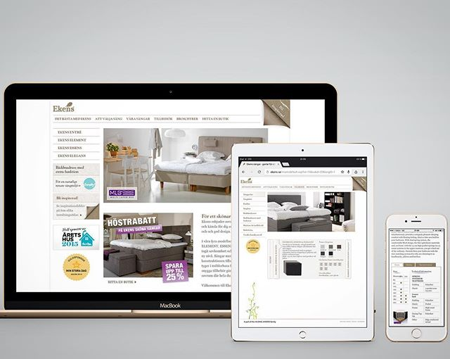 Web, mobile & App layout UI/UX and design for EKENS beds | Designed sometime in 2014 @ Quid Design Agency