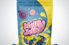 Package layout & design for Melly Jelly | Designed sometime in 2012 @ Quid Design Agency
