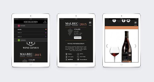 Wine genius UI/UX campaign pages for desktop, tablet & app web design – designed back in 2014 for @winegeniusger