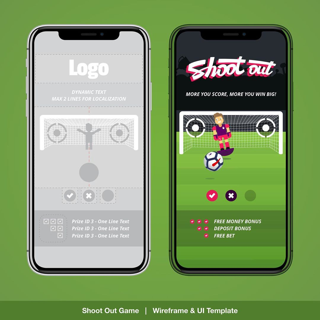 """Shootout Game UX / UI"" – Premier ShootOut Game Overview for our Daily Challenge Game. UX / UI , Layout , Branding, prototyping and Animation designs for responsive Web, Mobile & App. 