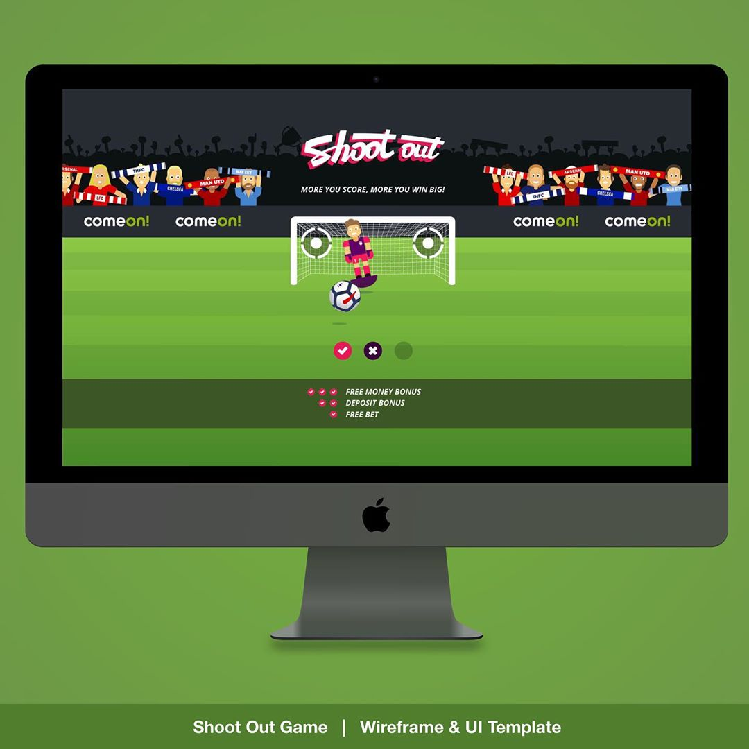 """""""Shootout Game UX / UI"""" – Premier ShootOut Game Overview for our Daily Challenge Game. UX / UI , Layout , Branding, prototyping and Animation designs for responsive Web, Mobile & App. 